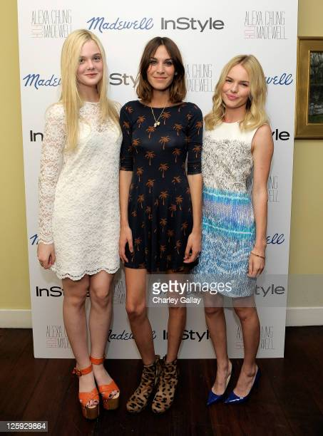 Actress Elle Fanning Tv personality/ Designer Alexa Chung and actress Kate Bosworth attend Madewell Alexa Chung InStyle celebrate the launch of The...