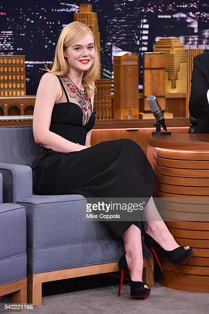 Actress Elle Fanning visits 'The Tonight Show Starring Jimmy Fallon' at Rockefeller Center on June 22 2016 in New York City