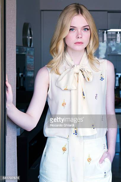 Actress Elle Fannings is photographed for Self Assignment on May 22, 2016 in Cannes, France.