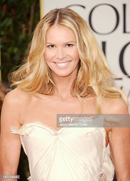 Actress Elle Macpherson arrives at the 69th Annual Golden Globe Awards held at the Beverly Hilton Hotel on January 15 2012 in Beverly Hills California