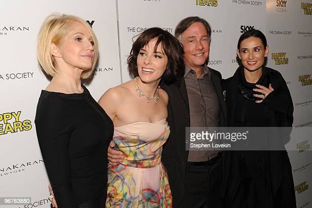 Actress Ellen Barkin actress Parker Posey writer/director Mitchell Lichtenstein and actress Demi Moore attend a screening of Happy Tears hosted by...