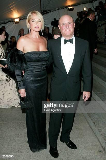 Actress Ellen Barkin and actor Ron Pereman arrive at the Metropolitan Museum of Art Costume Institute Benefit Gala sponsored by Gucci April 28 2003...