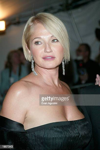 Actress Ellen Barkin and arrives at the Metropolitan Museum of Art Costume Institute Benefit Gala sponsored by Gucci April 28 2003 at The...