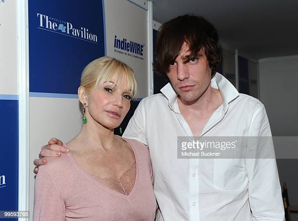 Actress Ellen Barkin and Director Cam Archer attend the 'Shit Year Panel' during the 63rd Annual Cannes Film Festival at the American Pavillion on...