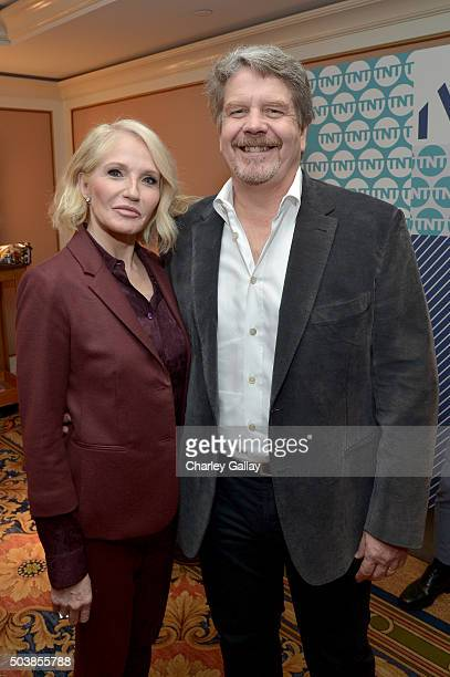 Actress Ellen Barkin and executive producer John Wells attend the 2016 TCA Turner Winter Press Tour Presentation at the Langham Hotel on January 7,...