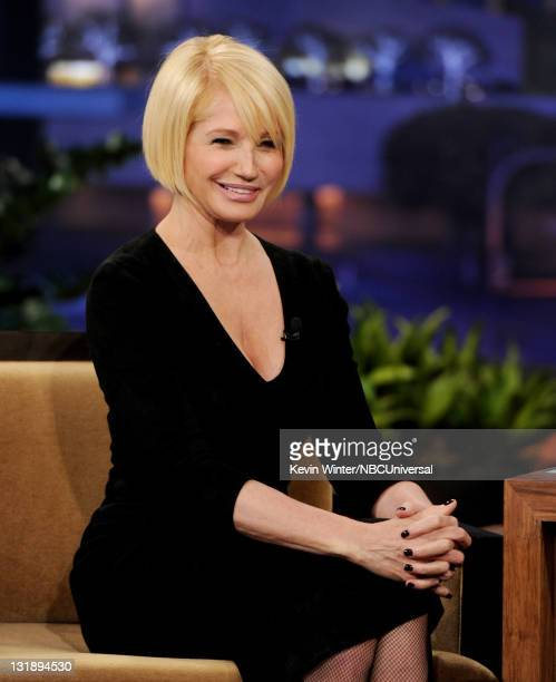 Actress Ellen Barkin appears on the Tonight Show With Jay Leno at NBC Studios on November 7 2011 in Burbank California