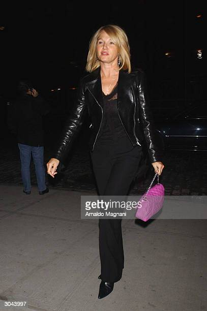 Actress Ellen Barkin arrives at the SoHo House for the screening and party for Cheeky on March 4 2004 in New York City