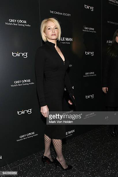 """Actress Ellen Barkin attends a screening of """"A Single Man"""" hosted by the Cinema Society and Tom Ford at The Museum of Modern Art on December 6, 2009..."""