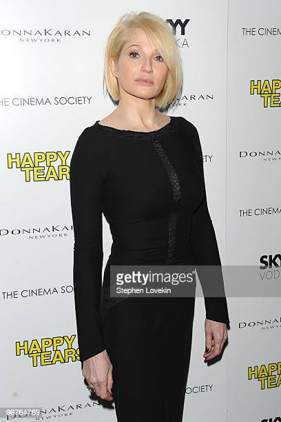 Actress Ellen Barkin attends a screening of Happy Tears hosted by the Cinema Society and Donna Karan at The Museum of Modern Art on February 16 2010...