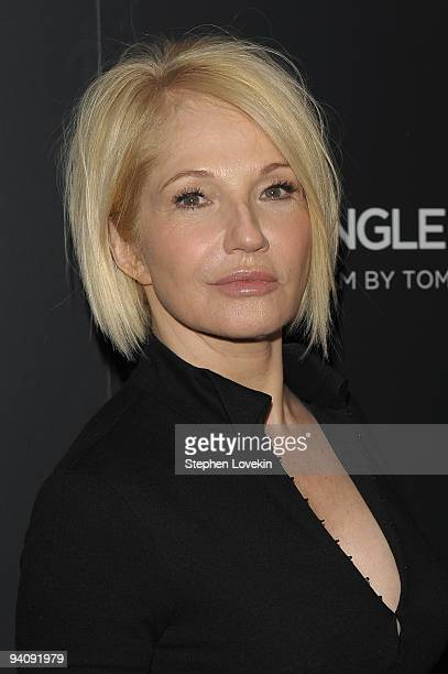 """Actress Ellen Barkin attends a special screening of """"A Single Man"""" hosted by The Cinema Society and Bing at MOMA on December 6, 2009 in New York City."""
