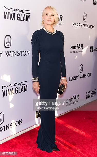 Actress Ellen Barkin attends the 2015 amfAR Inspiration Gala New York at Spring Studios on June 16, 2015 in New York City.