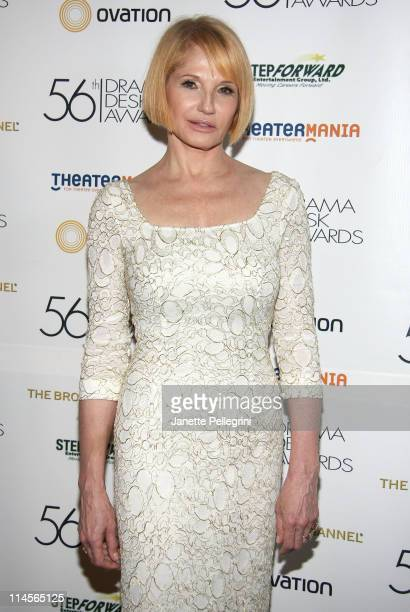 Actress Ellen Barkin attends the 56th annual Drama Desk awards at Hammerstein Ballroom on May 23, 2011 in New York City.