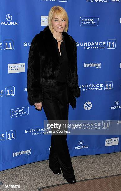 Actress Ellen Barkin attends the Another Happy Day Premiere at the Eccles Center Theatre during the 2011 Sundance Film Festival on January 23 2011 in...
