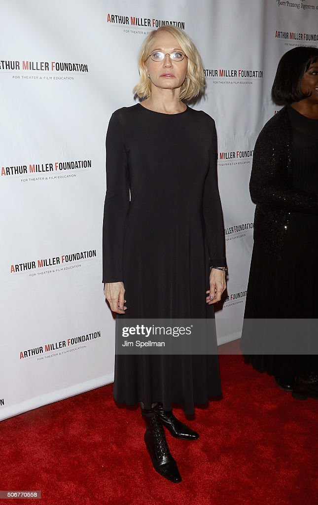 Actress Ellen Barkin attends the Arthur Miller - One Night 100 Years Benefit at Lyceum Theatre on January 25, 2016 in New York City.