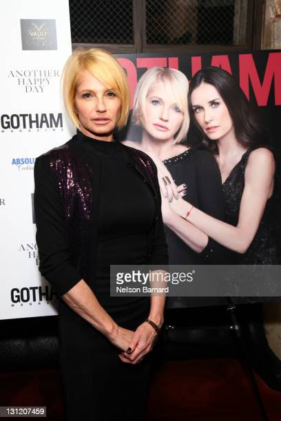 Actress Ellen Barkin attends the celebration by Gotham Magazine with cover star Ellen Barkin of the new film Another Happy Day at The VAULT at...