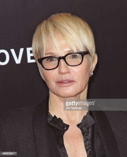 """Actress Ellen Barkin attends the """"Monument Men"""" premiere at Ziegfeld Theater on February 4, 2014 in New York City."""