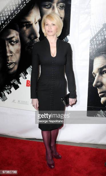 Actress Ellen Barkin attends the premiere of Brooklyn's Finest at AMC Loews Lincoln Square 13 theater on March 2 2010 in New York City