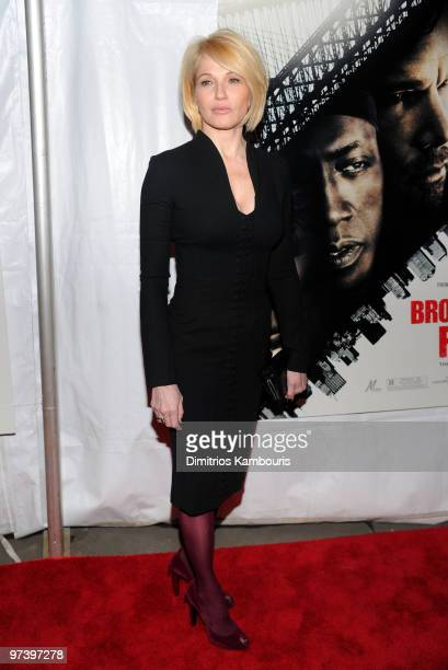 Actress Ellen Barkin attends the premiere of 'Brooklyn's Finest' at AMC Loews Lincoln Square 13 theater on March 2 2010 in New York City
