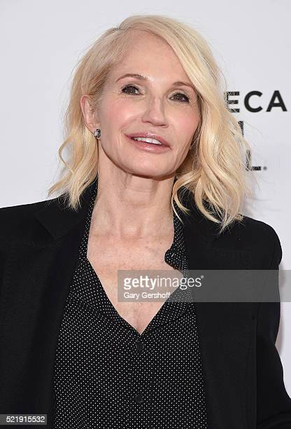 Actress Ellen Barkin attends Tribeca Tune In Animal Kingdom during 2016 Tribeca Film Festival at SVA Theatre on April 17 2016 in New York City