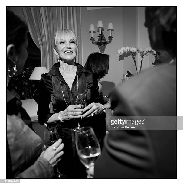 Actress Ellen Barkin in photographed at Vanity Fair Cannes Party at the Eden Roc Cap d'Antibes for Vanity Fair Magazine on May 15 2010 in Cannes...