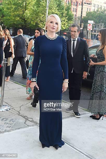 Actress Ellen Barkin is seen arriving at the 2015 amfAR Inspiration Gala on June 16 2015 in New York City