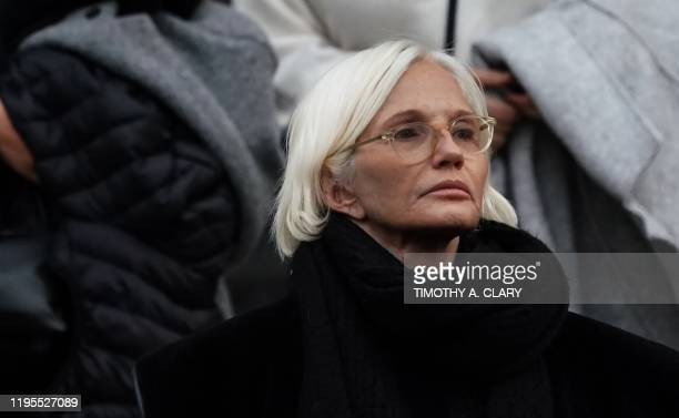 Actress Ellen Barkin leaves the court where she listened in on Harvey Weinstein at Manhattan Supreme Court January 23 2020 after the 2nd day in his...