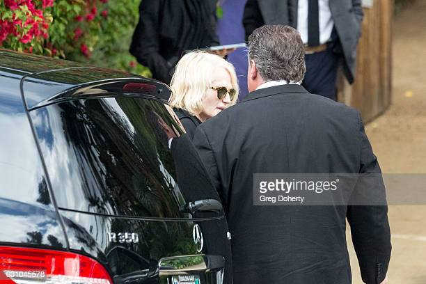 Actress Ellen Barkin leaves the private memorial at the former residence of actress Carrie Fisher January 5 2017 in Beverly Hills California Fisher...