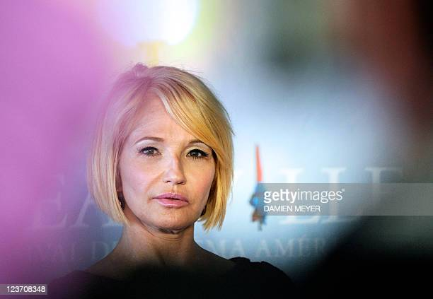 US actress Ellen Barkin poses during the photocall of the movie Another Happy Day presented out of the competition at the 37th American Film Festival...