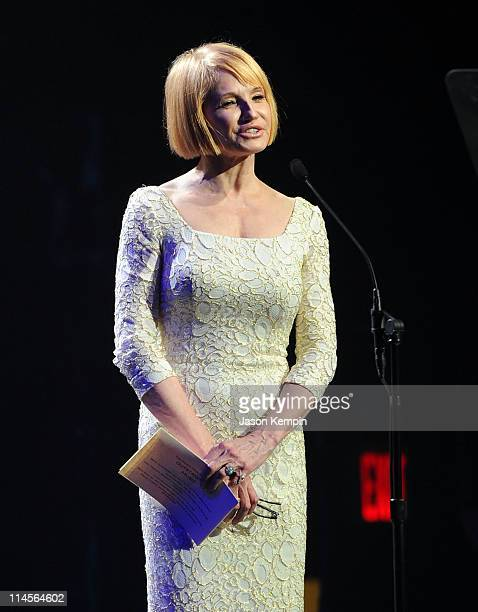 Actress Ellen Barkin presents an award at the 56th annual Drama Desk awards at Hammerstein Ballroom on May 23, 2011 in New York City.