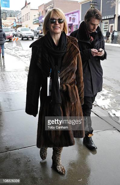 Actress Ellen Barkin seen around Main Street during the 2011 Sundance Film Festival on January 25 2011 in Park City Utah