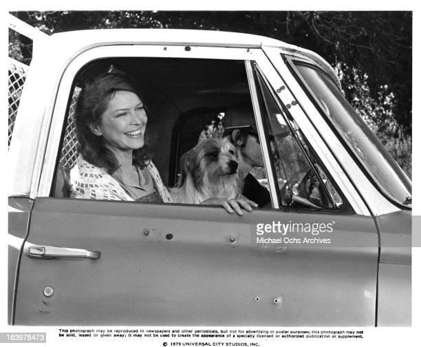 Actress Ellen Burstyn and actor Sam Shepard on set of the Universal Studio movie 'Resurrection' in 1980