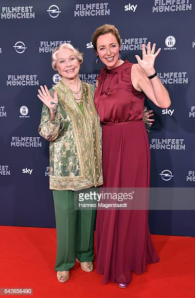 Actress Ellen Burstyn and Diana Iljine during the opening night of the Munich Film Festival 2016 at Mathaeser Filmpalast on June 23 2016 in Munich...
