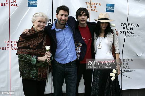 Actress Ellen Burstyn director Seth Grossman producer Emanuel Michael and actress Florence Faivre attend the premiere of 'The Elephant King' during...