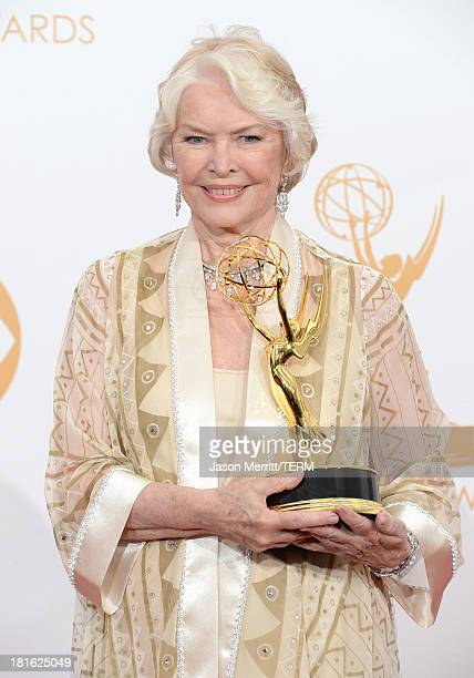 Actress Ellen Burstyn winner of the Best Supporting Actress in a Miniseries or Movie Award for 'Political Animals' poses in the press room during the...