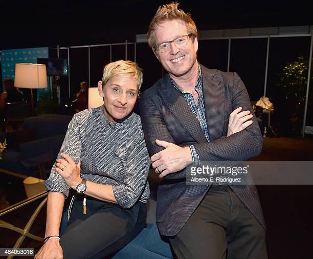 Actress Ellen DeGeneres and director Andrew Stanton of FINDING DORY took part today in Pixar and Walt Disney Animation Studios The Upcoming Films...