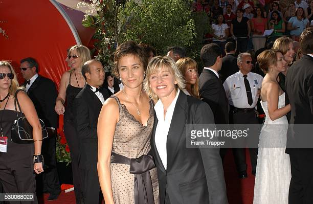 Actress Ellen DeGeneres and girlfriend Alexandra Hedison arrive at the 56th Annual Primetime Emmy Awards at the Shrine auditorium