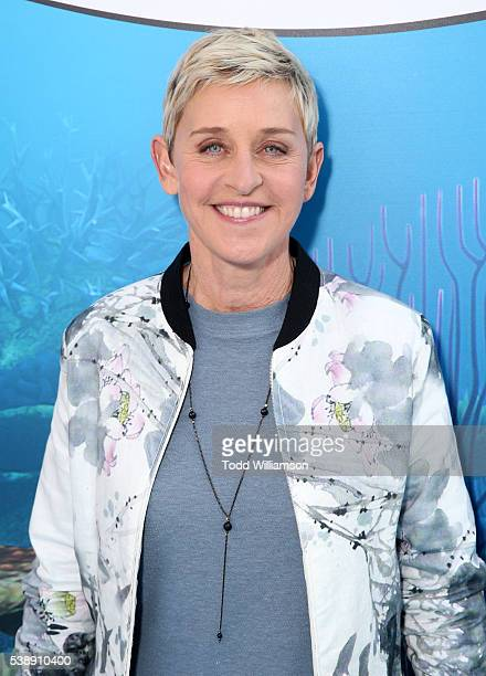 Actress Ellen DeGeneres attends the world premiere of Disney-Pixar's 'Finding Dory' at the El Capitan Theatre on June 8, 2016 in Hollywood,...