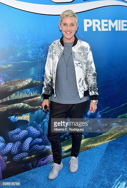 Actress Ellen DeGeneres attends The World Premiere of Disney-Pixar's FINDING DORY on Wednesday, June 8, 2016 in Hollywood, California.