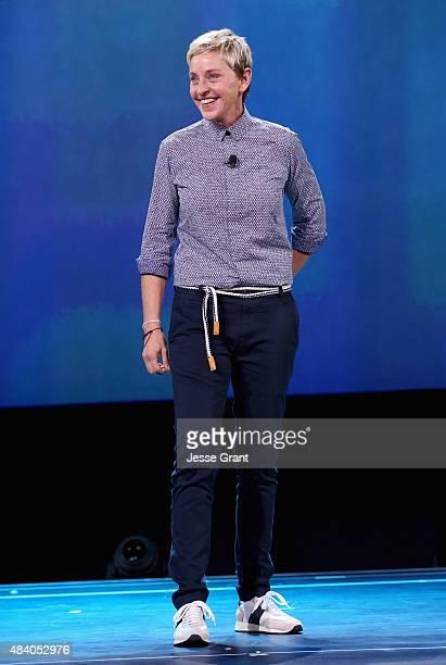 Actress Ellen DeGeneres of FINDING DORY took part today in 'Pixar and Walt Disney Animation Studios The Upcoming Films' presentation at Disney's D23...