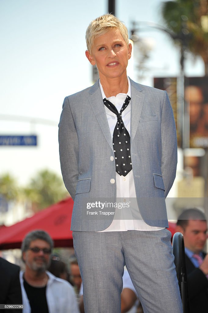 USA - Ellen DeGeneres honored with Star on the Hollywood of Fame. : News Photo