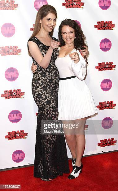 Actress Ellen Dubin and director/producer April Mullenarrive at Dead Before Dawn 3D premiere at Mann Chinese 6 on September 6 2013 in Los Angeles...