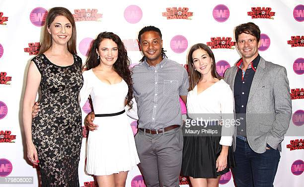 "Actress Ellen Dubin, director/producer April Mullen, actors Brandon Jay McLaren, Martha Macisaac and writer/producer Tim Doiron arrive at ""Dead..."