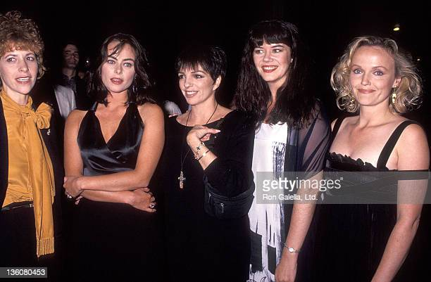 Actress Ellen Greene actress Polly Walker actress/singer Liza Minnelli actress Josie Lawrence and actress Miranda Richardson attend the Enchanted...