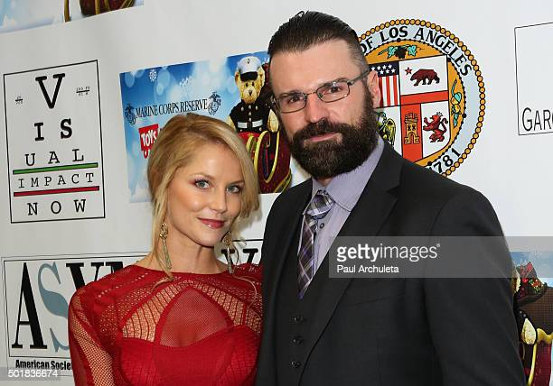 Actress Ellen Hollman and Stephen Dunlevy attend the 16th annual Hollywood Celebrity Toy Drive Extravaganza on December 17 2015 in Los Angeles...