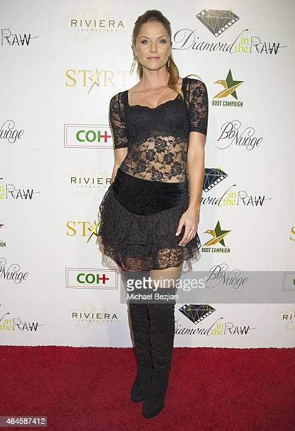 Actress Ellen Hollman arrives at the 1st Annual Startuch Charity Gala at Riviera 31 on February 26 2015 in Beverly Hills California