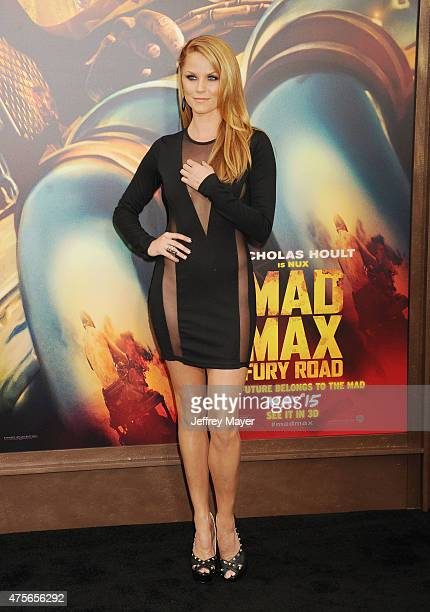 Actress Ellen Hollman arrives at the 'Mad Max Fury Road' Los Angeles Premiere at TCL Chinese Theatre IMAX on May 7 2015 in Hollywood California