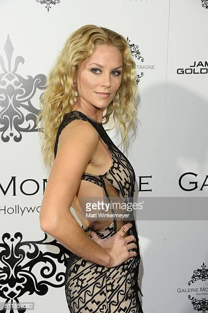 Actress Ellen Hollman arrives at the Opening of Galerie Montaigne on February 19 2016 in West Hollywood California