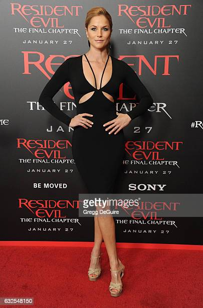 """Actress Ellen Hollman arrives at the premiere of Sony Pictures Releasing's """"Resident Evil: The Final Chapter"""" at Regal LA Live: A Barco Innovation..."""