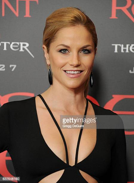 Actress Ellen Hollman arrives at the premiere of Sony Pictures Releasing's 'Resident Evil The Final Chapter' at Regal LA Live A Barco Innovation...