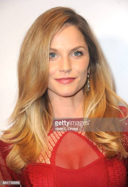 Actress Ellen Hollman arrives for the TJ Scott Book Launch For 'In The Tub Volume 2' held at Cinematic Pictures Group Gallery on December 2 2017 in...